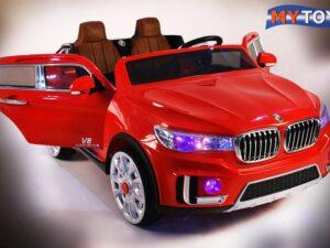 Двухместный детский электромобиль BMW M333MM на резиновых колесах